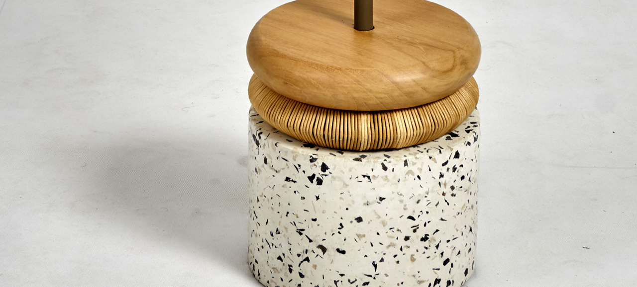 terazo side table detail 2